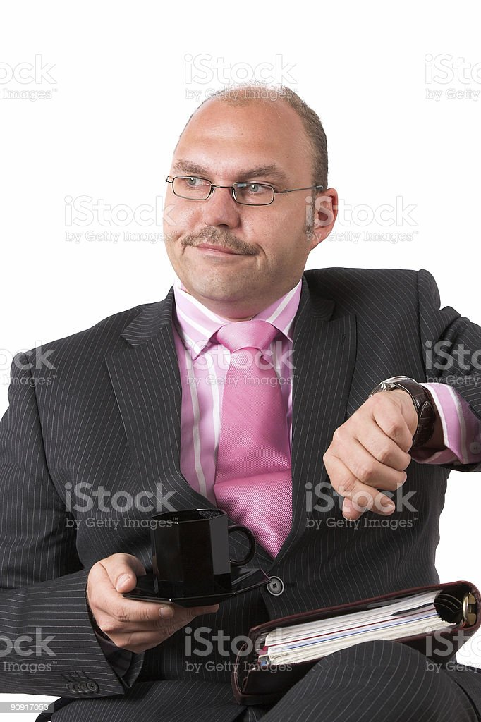 Ridiculously late royalty-free stock photo