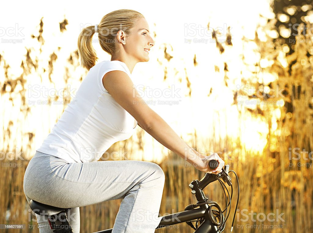 Riding A Bicycle royalty-free stock photo