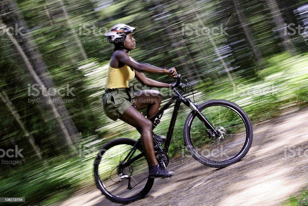 Riding a Bike royalty-free stock photo