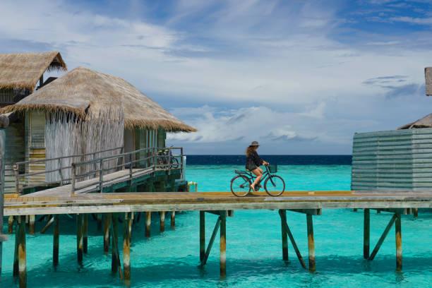 Vélo sur la jetée - Photo