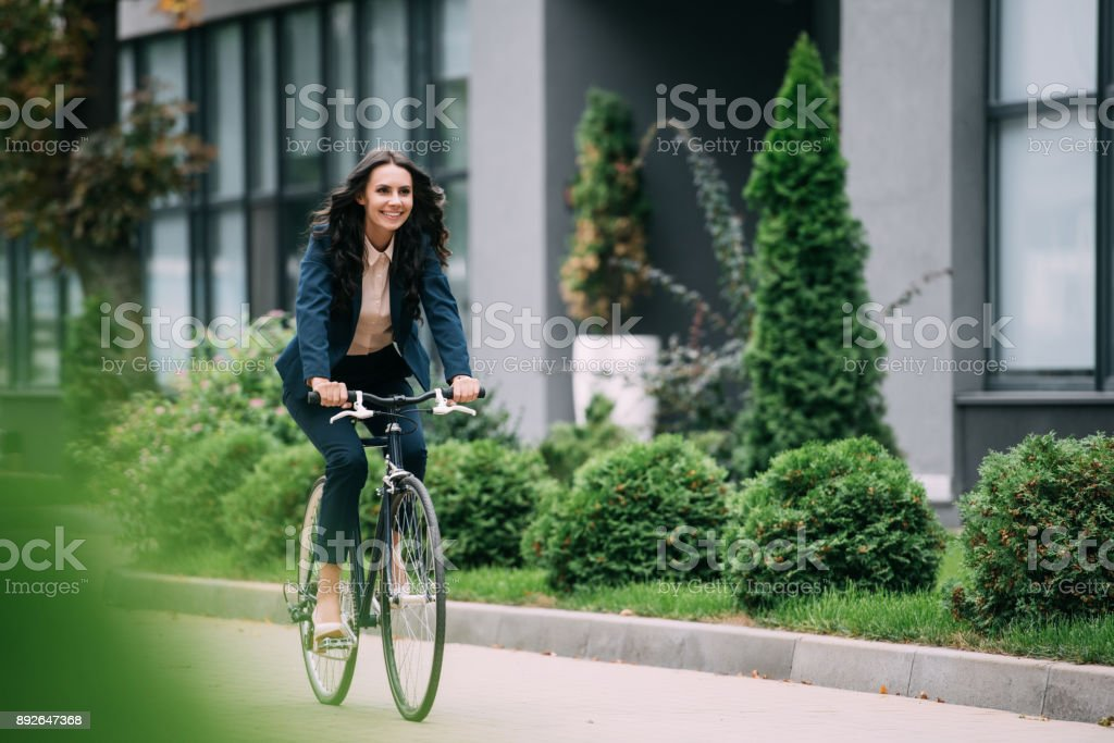 riding bicycle stock photo