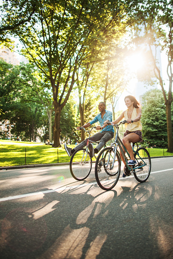 istock Riding bicycles at Central Park 666887178