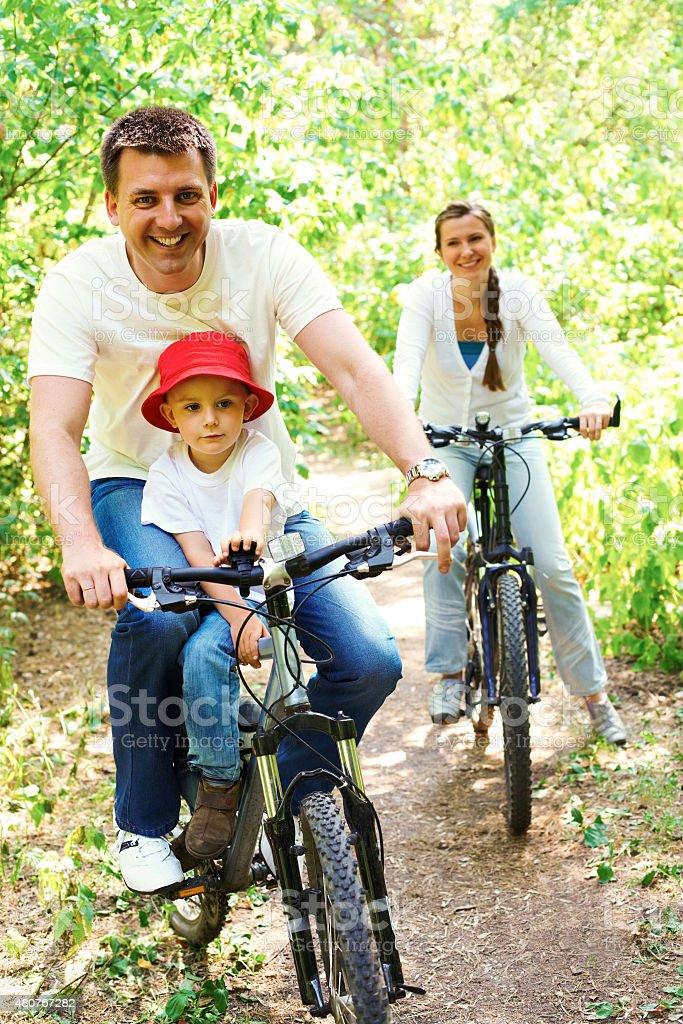 Reiten Fahrräder Lizenzfreies stock-foto