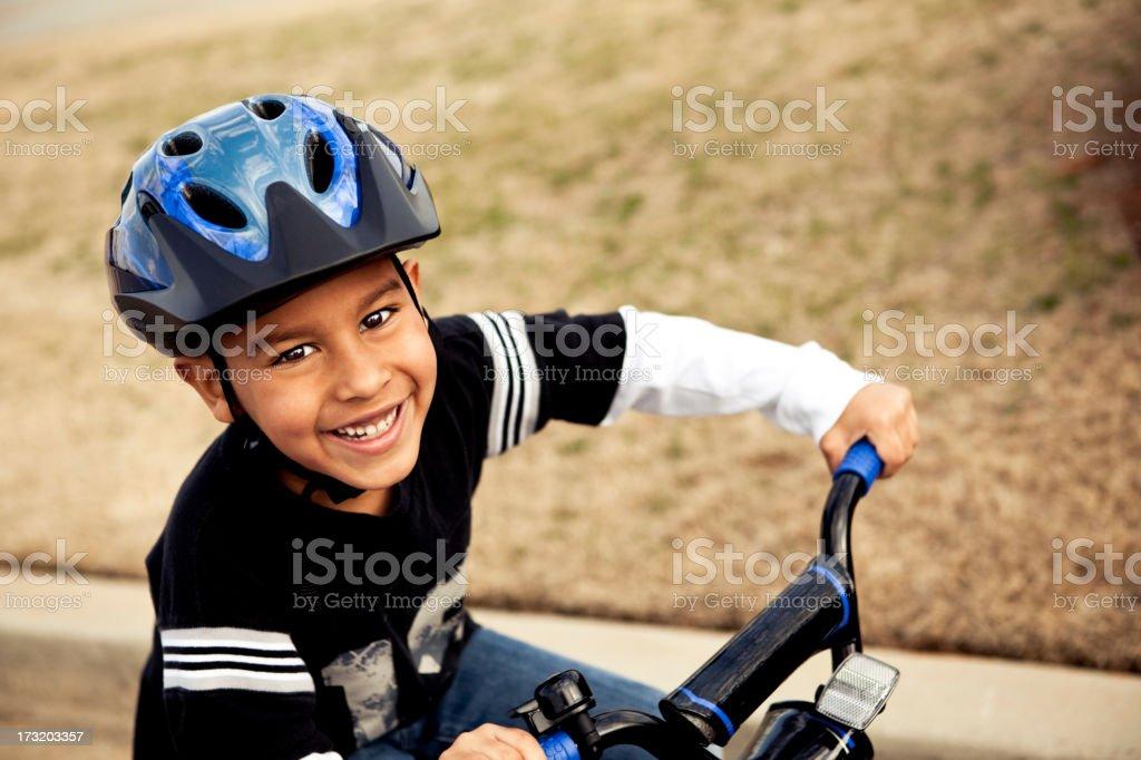Riding bike stock photo