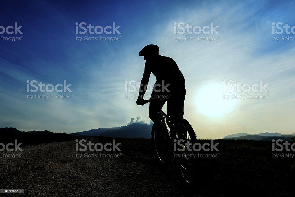 riding bike silhouette royalty-free stock photo