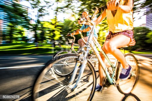 istock Riding bikes in Central Park, New York 503524275