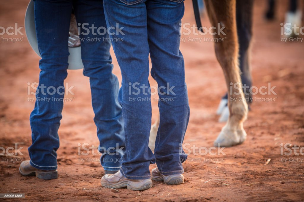 Riding boot detail. stock photo