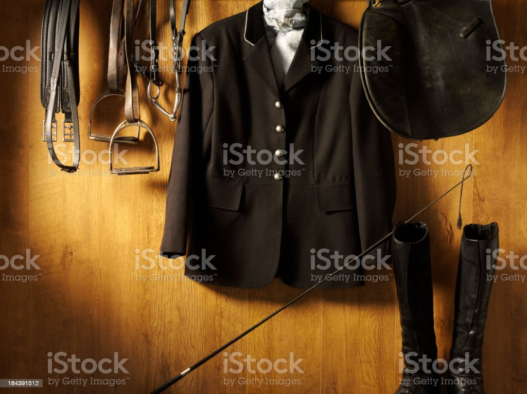 Riding Clothes and Equine Equipment stock photo