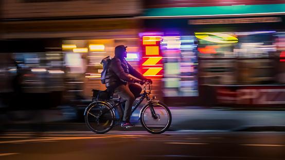 929609038 istock photo Riding cyclists 1052276740