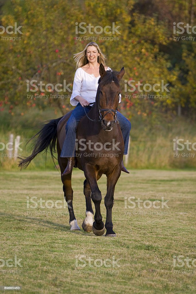 Riding In The Fall royalty-free stock photo