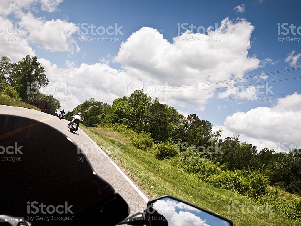 riding in the wind royalty-free stock photo