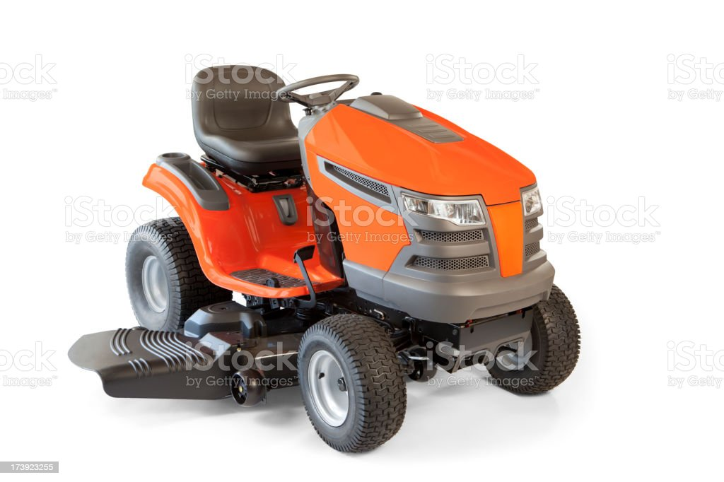 Riding Lawn Mower Isolated royalty-free stock photo