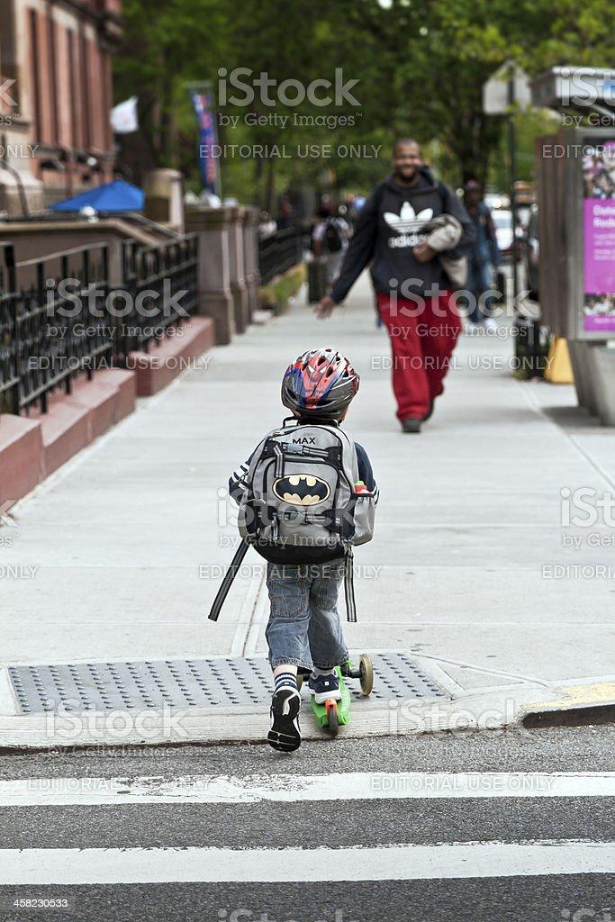 Guida su come un supereroe, New York - foto stock