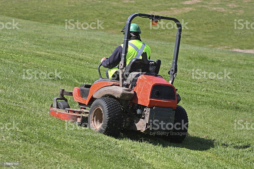 Riding Mower stock photo