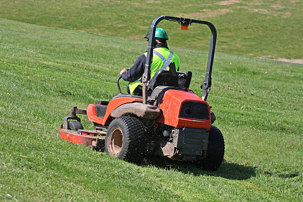 riding mower - riding lawn mower stock photos and pictures