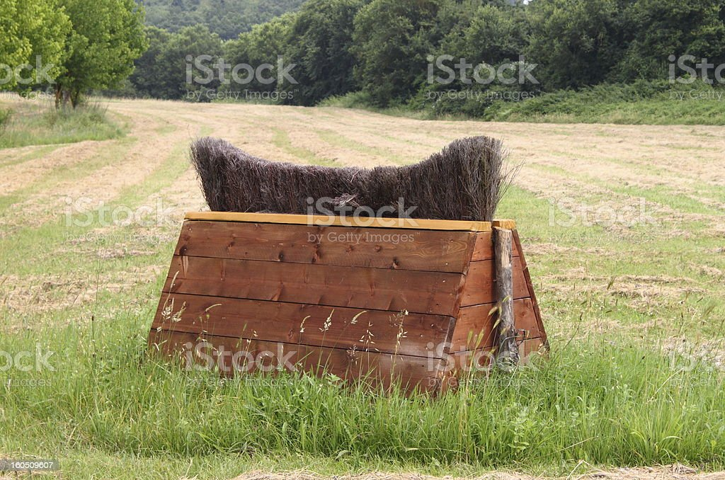 Equitation obstacle royalty-free stock photo
