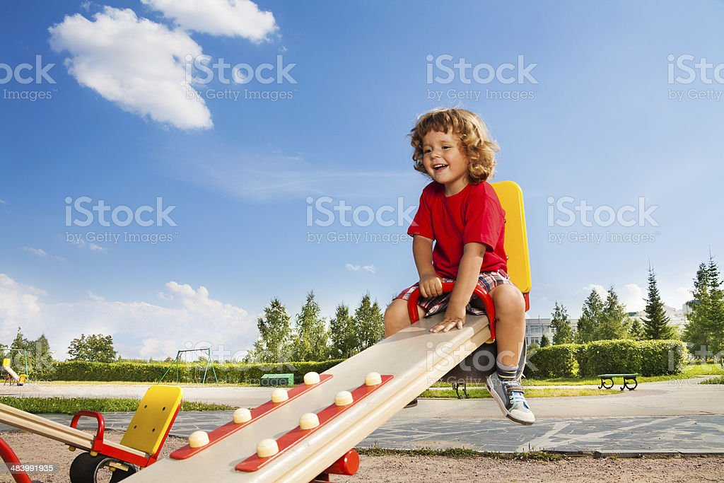 Riding balancín - foto de stock