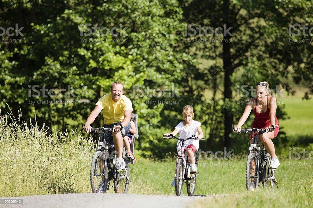 Riding the bikes royalty-free stock photo