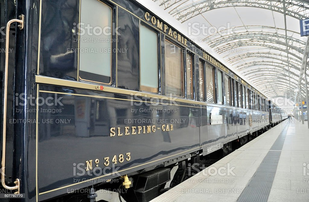 Riding the Orient-Express stock photo