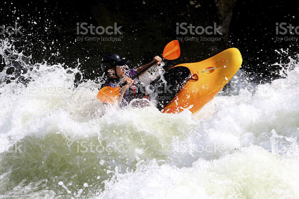 Riding The Wave royalty-free stock photo