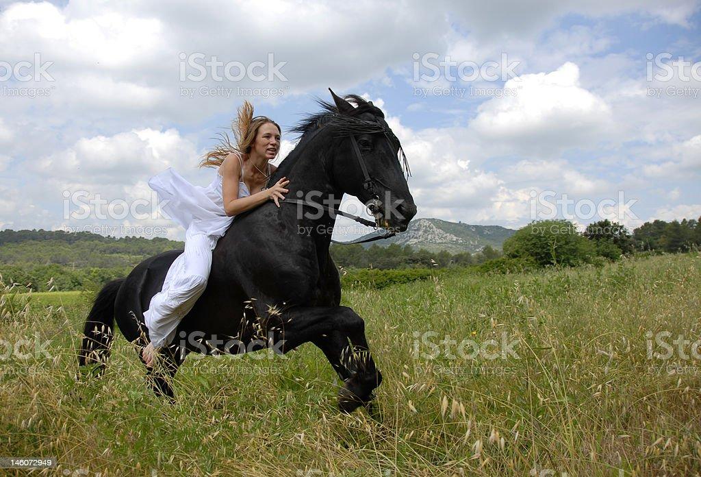 riding wedding woman royalty-free stock photo