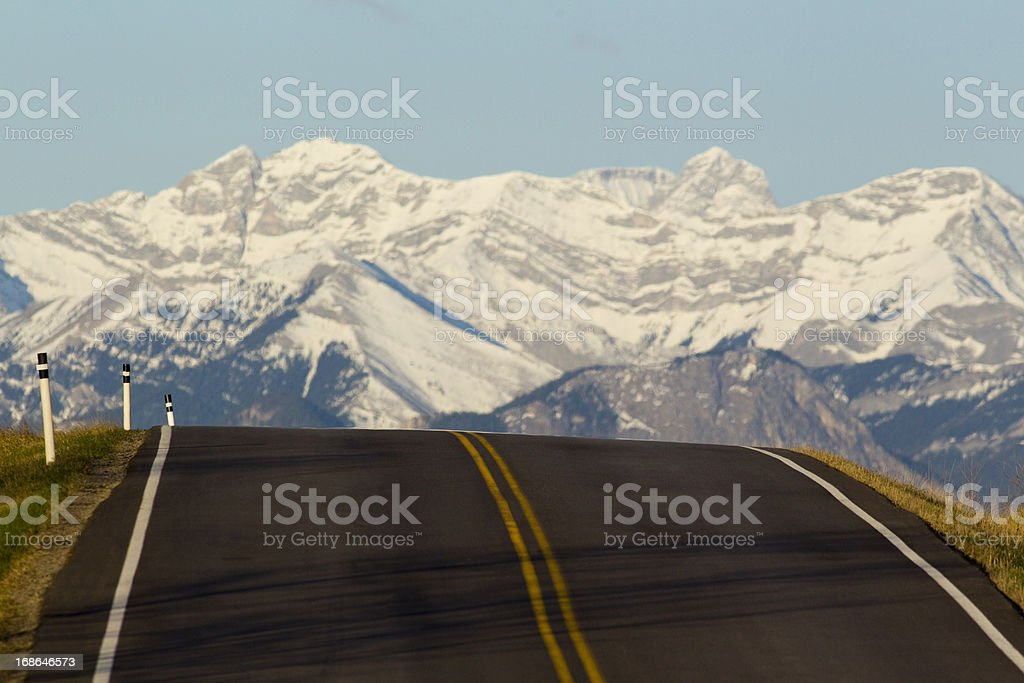 Riding West to the Rocky Mountains royalty-free stock photo