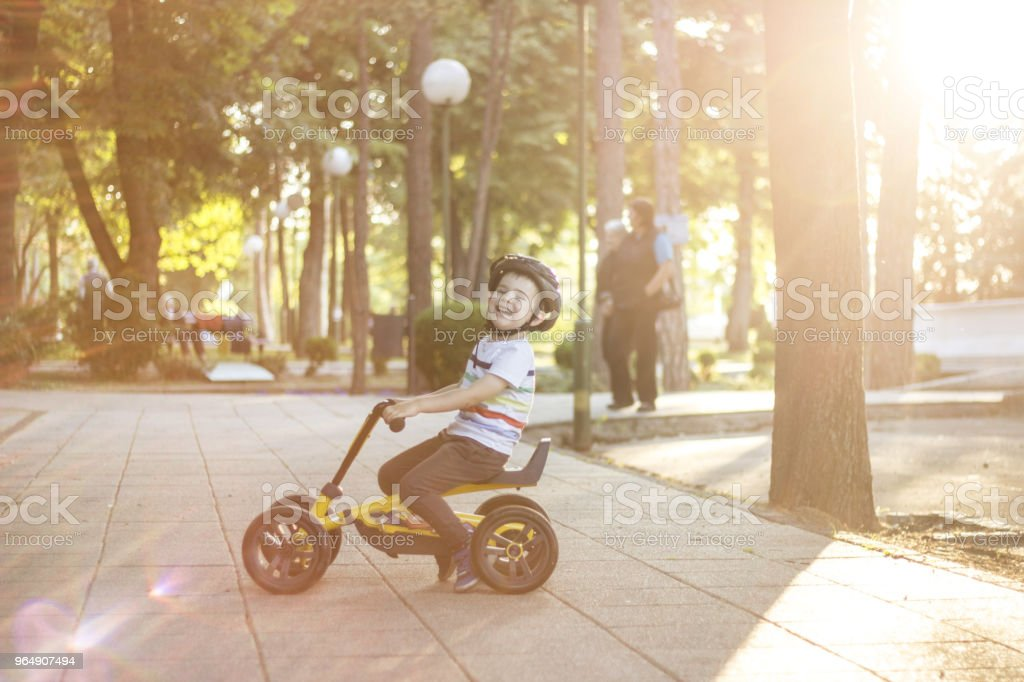 Riding With So Much Fun royalty-free stock photo