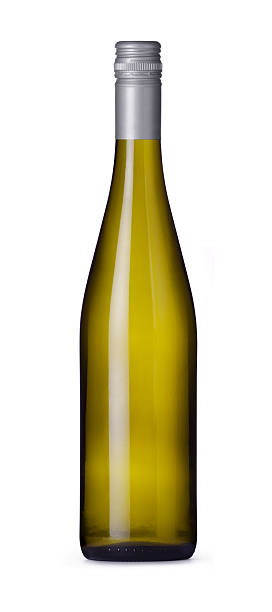 Riesling Wine Bottle stock photo