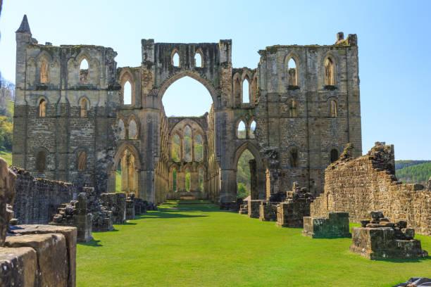 Rievaulx Abbey, North Yorkshire stock photo