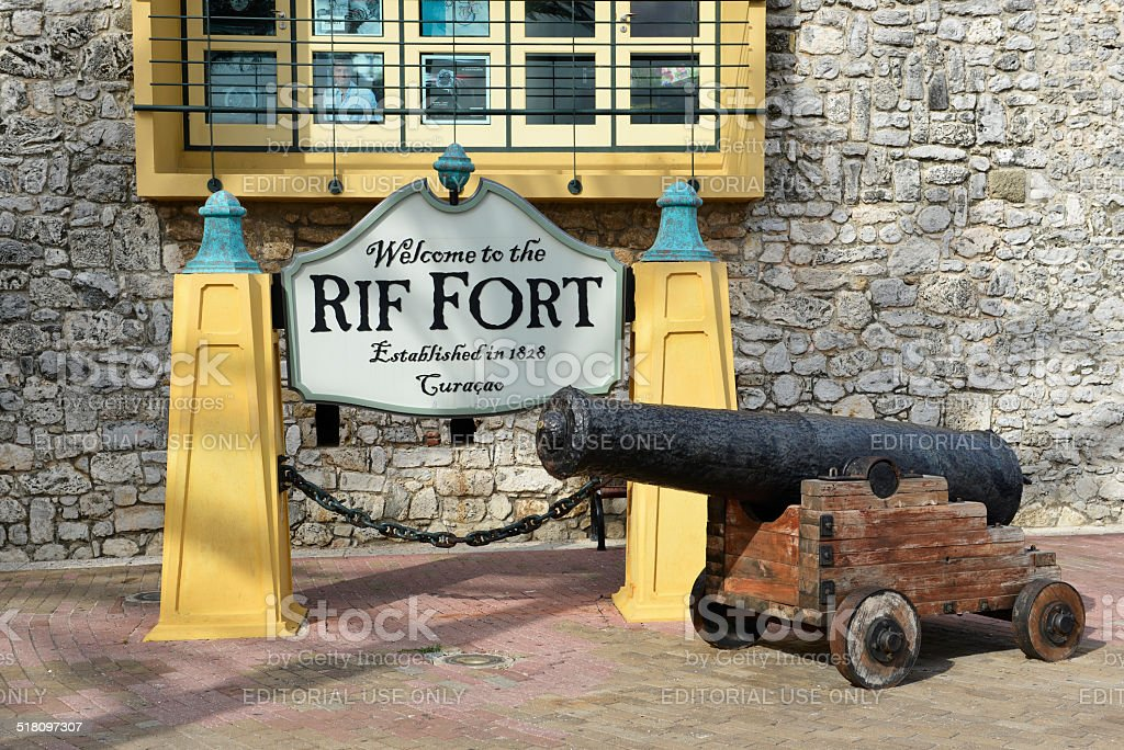 Rif Fort in Curacao stock photo