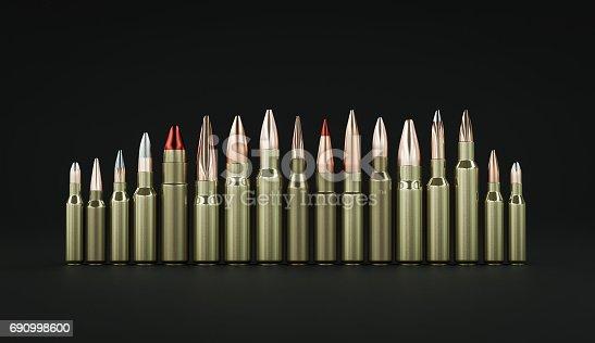istock Rifle ammunition 3d illustration 690998600
