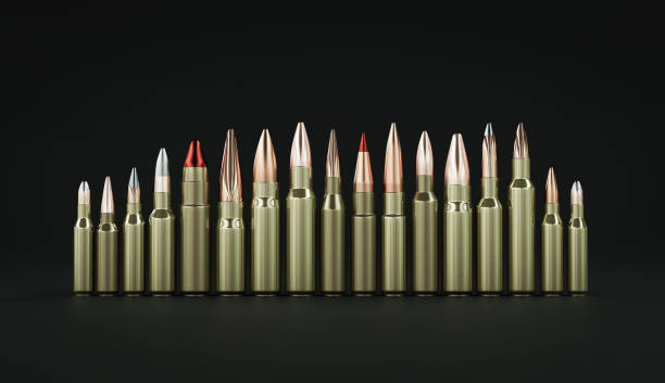 Rifle ammunition 3d illustration Rifle ammunition 3d illustration ammunition stock pictures, royalty-free photos & images