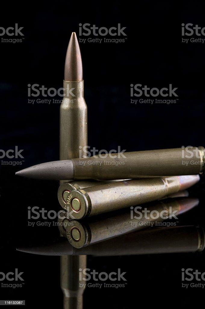 AK47 Rifle Ammunition stock photo