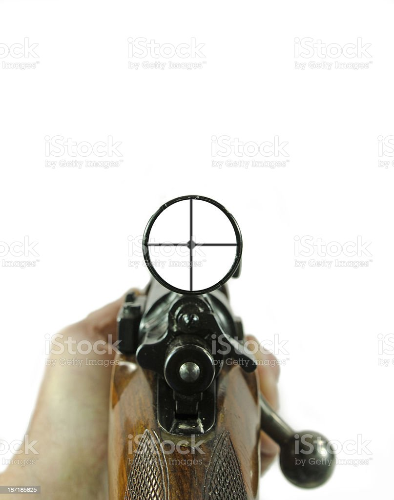 Rifle and Scope stock photo