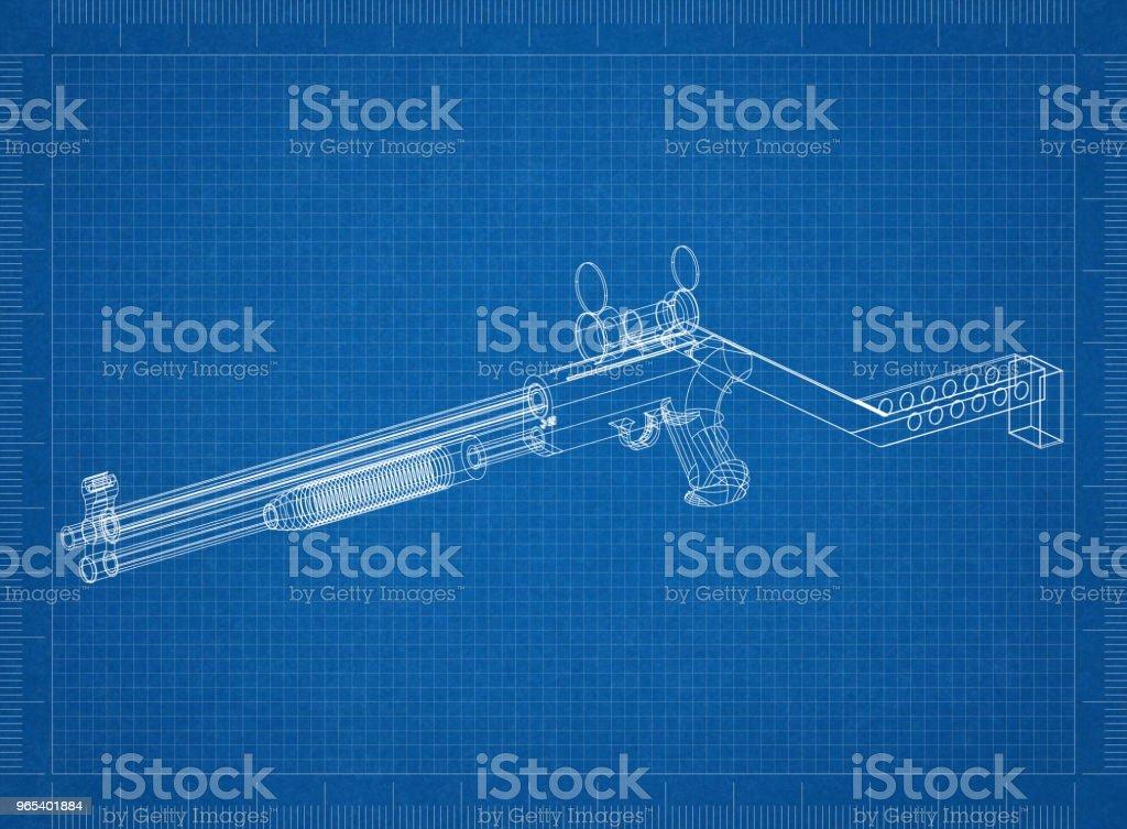 Gewehr-Architekt-Entwurf - Lizenzfrei Arbeiten Stock-Foto