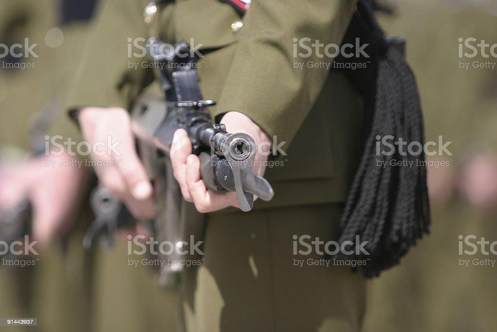 Rifle barrel stock photo