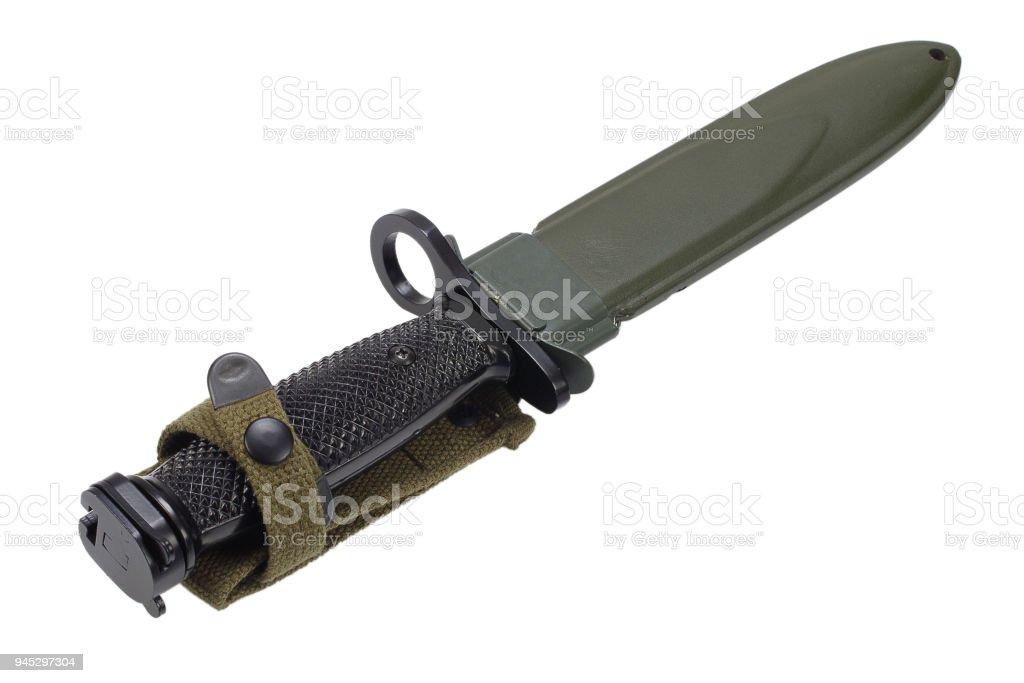 Bayoneta de fusil M16 - foto de stock