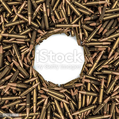 istock Rifle bullets frame 520734839