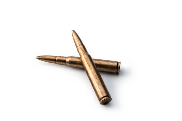 Gewehrkartusche, zwei Kugeln – Foto