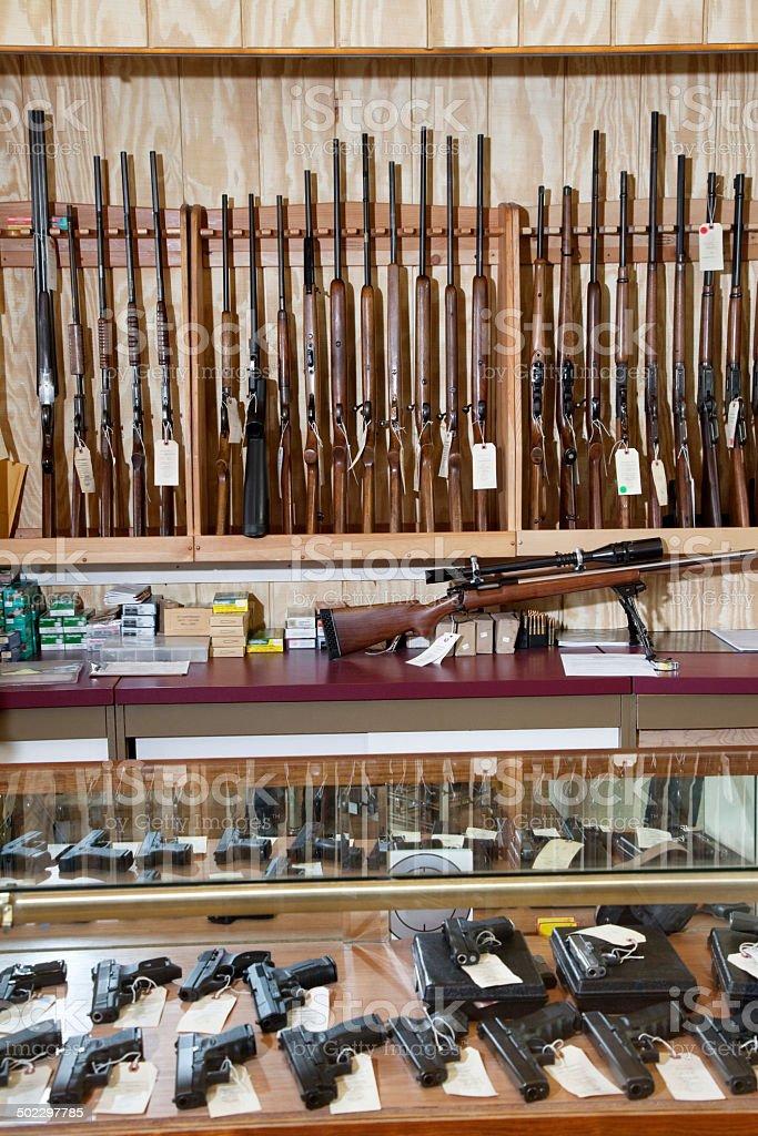 Rifle in Gun Shop stock photo