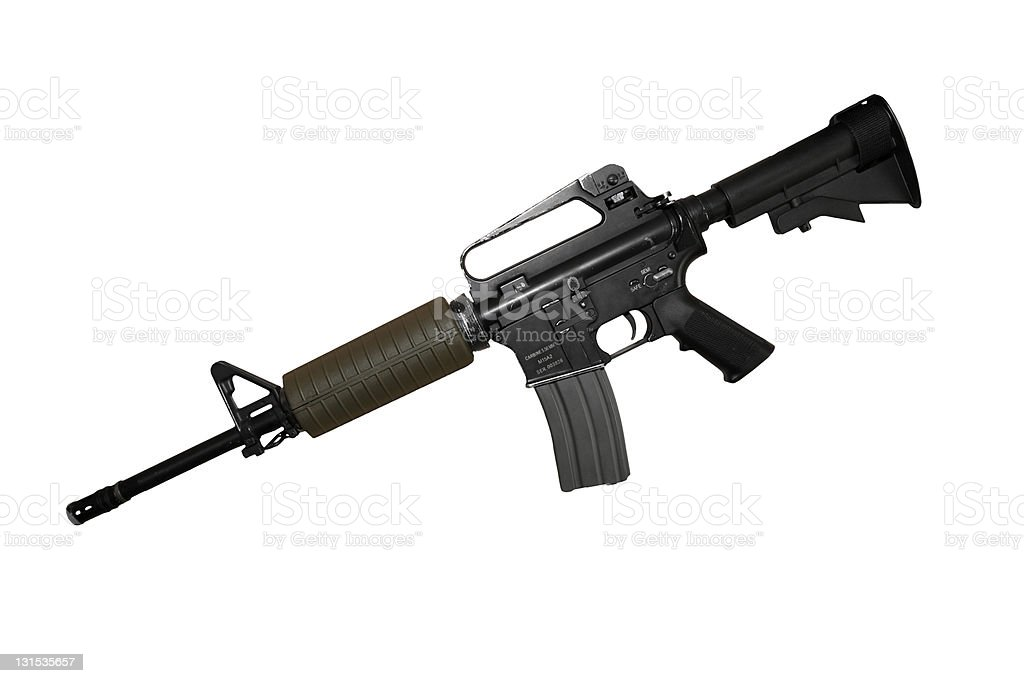 rifle isolated stock photo