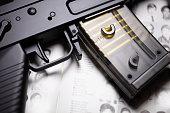 istock Rifle on book 962741702