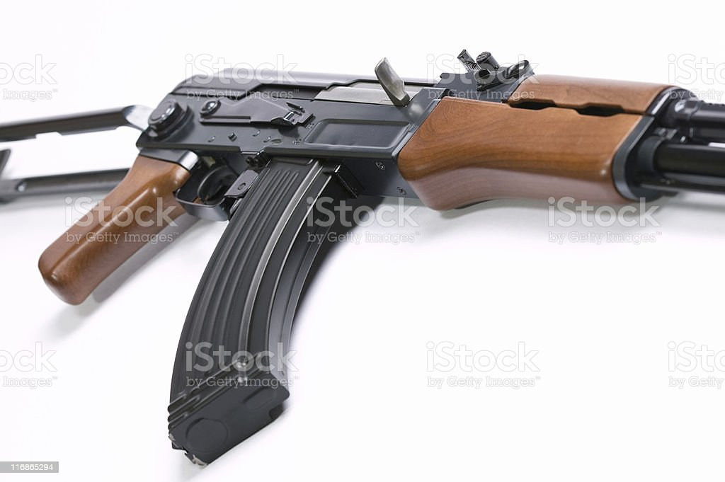 AK47 Rifle on White stock photo