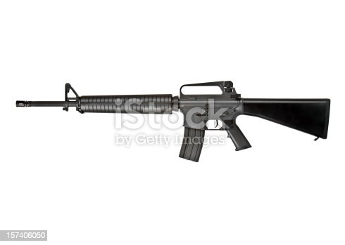 Rifle isolated on white.