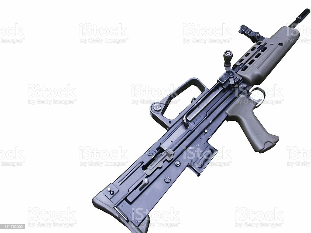Rifle (SA80) royalty-free stock photo