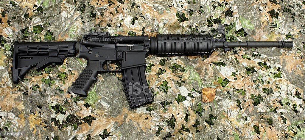 AR-15 rifle stock photo