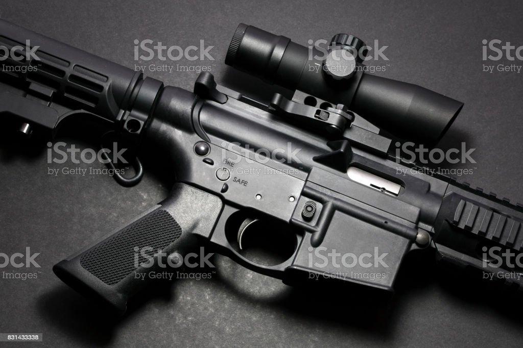 AR15 rifle stock photo