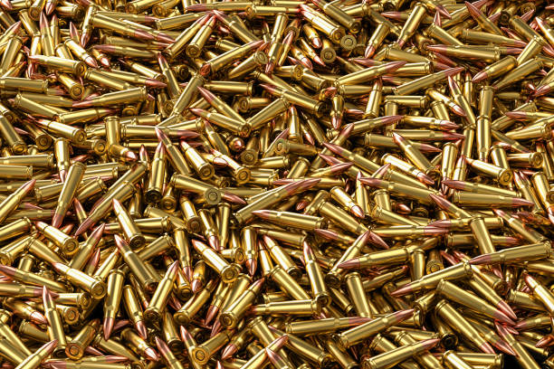 Rifle rounds 7.62x39mm stock photo