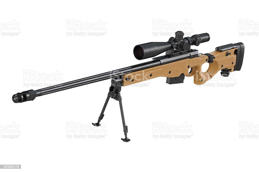 Rifle sniper scope stock photo