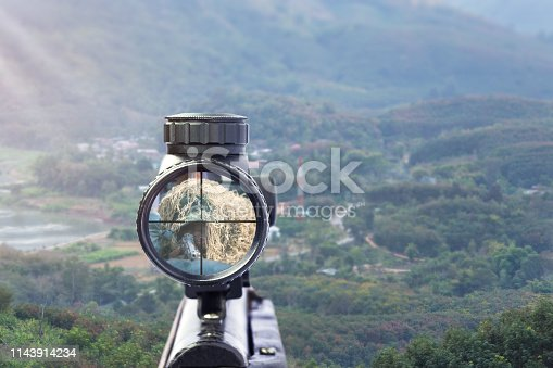 1048647890 istock photo rifle target view on Natural Background. 1143914234